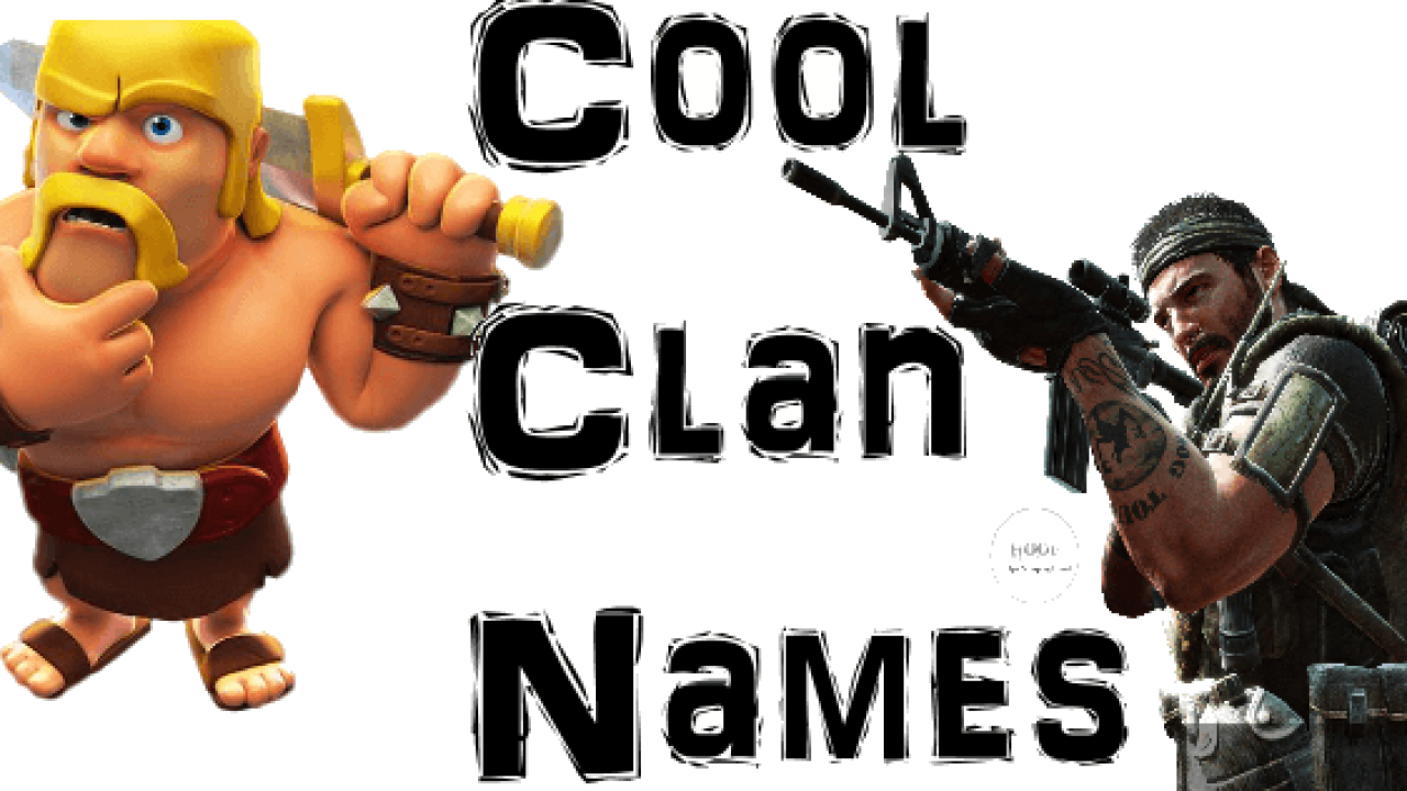 Cool Gaming Clan Names for COC and COD