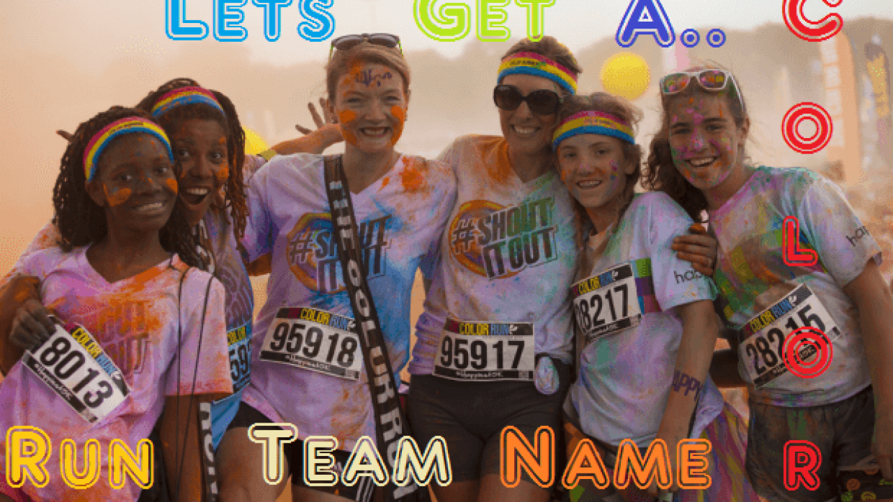 25+ Amazing Color Run Team Names | Running Team Names